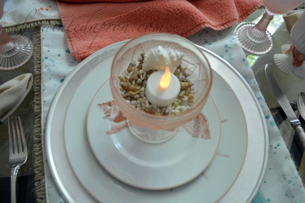 shell candle thepaintedapron.com