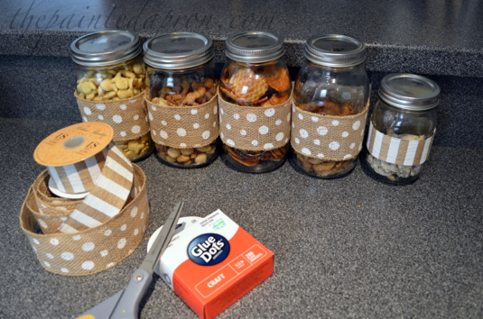 snack jars thepaintedapron.com