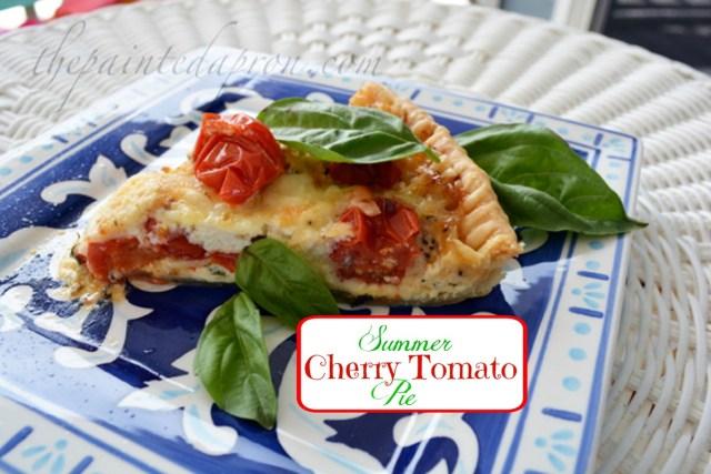 summer cherry tomato pie 1 thepaintedapron.com