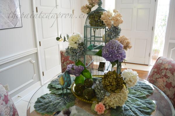 Blooming Birdcage thepaintedapron.com