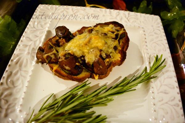 mushroom toast with rosemary and sea salt thepaintedapron.com