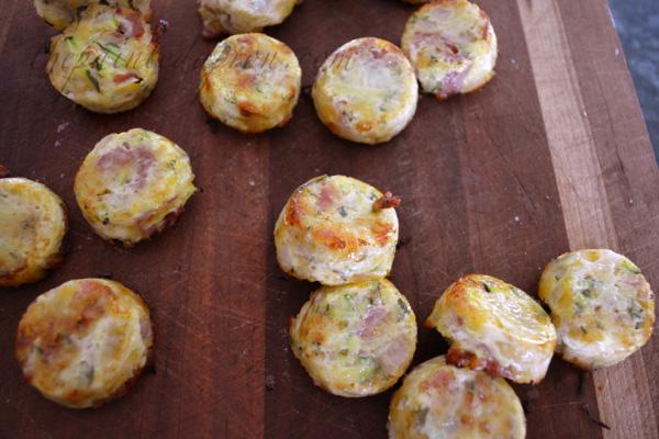 zucchini muffins with ham thepaintedapron.com