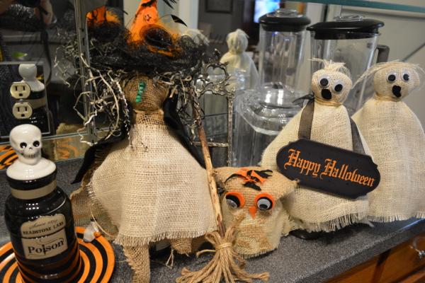 burlap Halloween figures