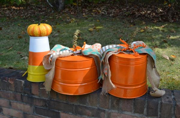 pumpkin buckets thepaintedapron.com