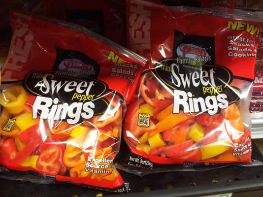 sweet pepper rings