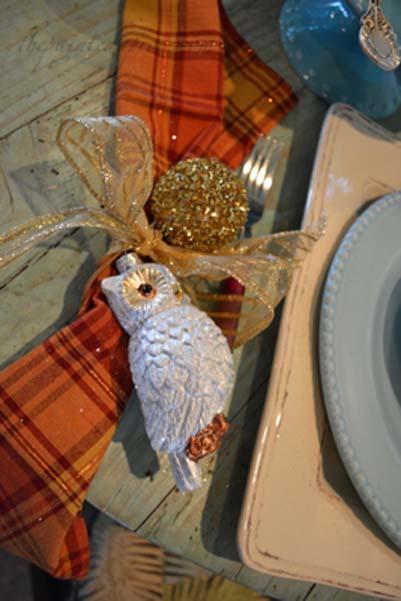 owl and ribbon napkin ring