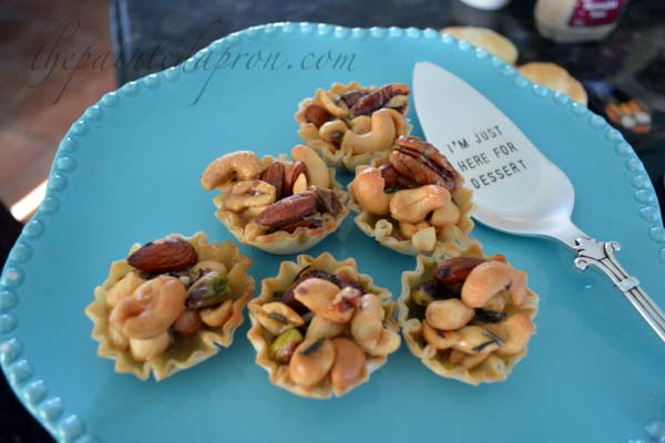 sweet and savory nut tarts