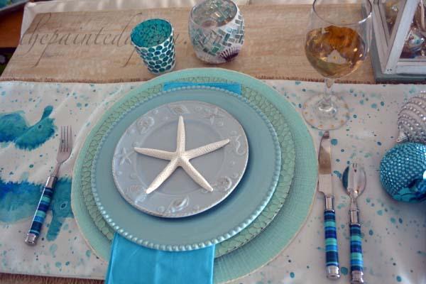 winter aqua table