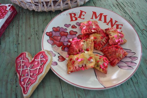 Valentine chocolate ravioli