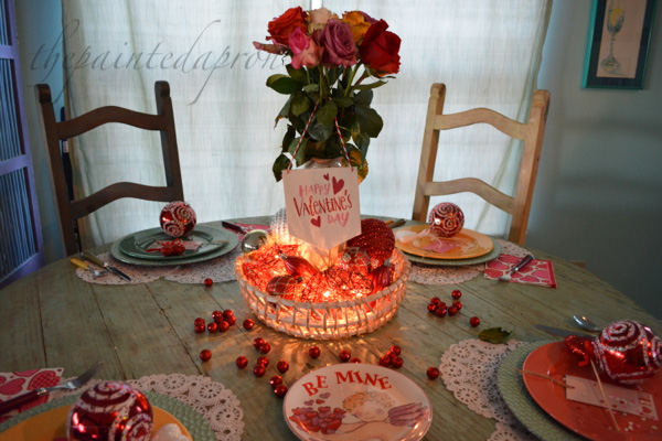 Valentine light centerpiece