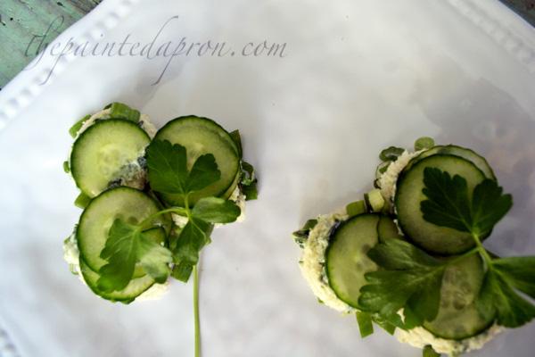 clover cucumber sandwiches
