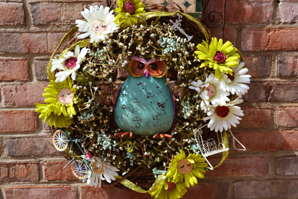 Crazy Daisy wreath