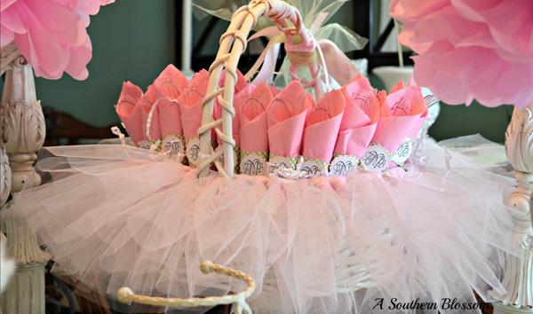tuille ballet skirt basket