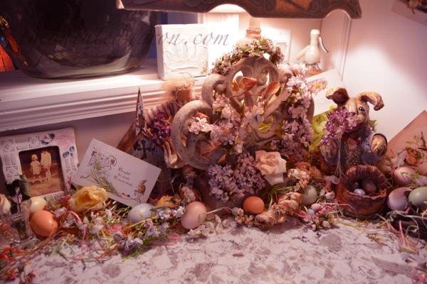 vintage flower and egg vignetter
