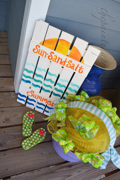 sun sand salt summer sign