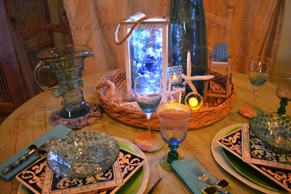 candles & glass table