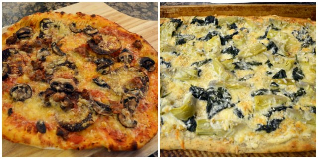 his and hers pizzas