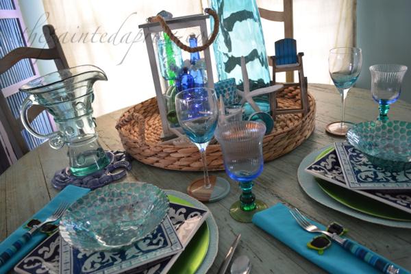 seaside sparkle table