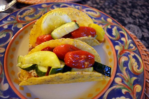 veggie chicken tacos