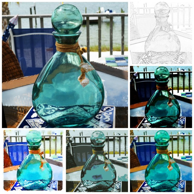 bottle effect photo collage