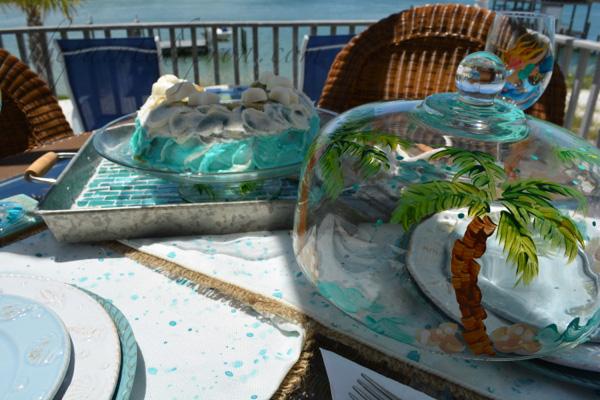beach cake and dome