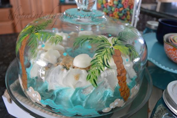 palm tree cake dome