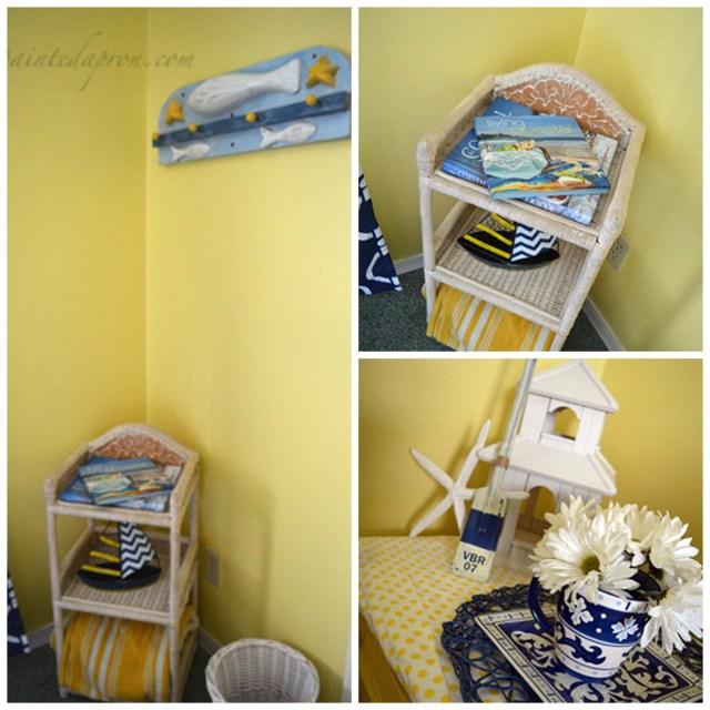 beach house decor collage