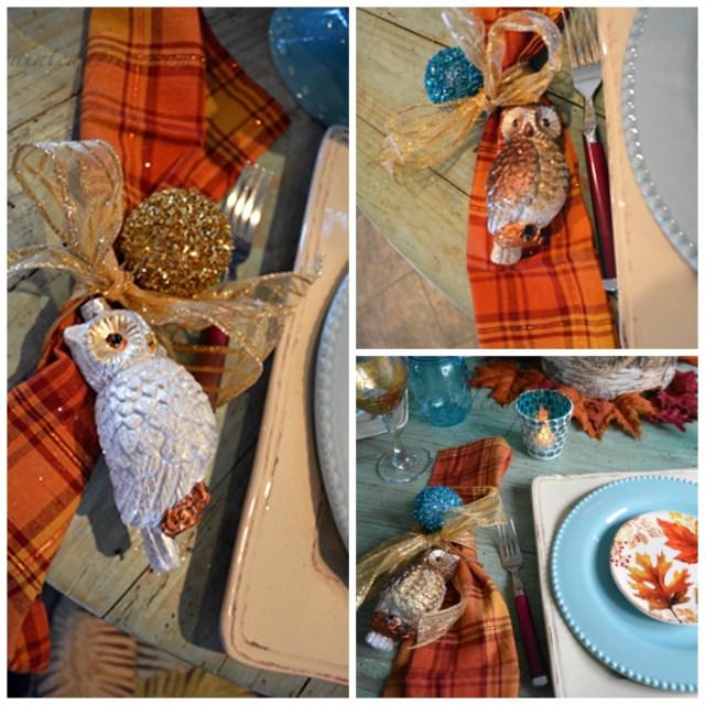fall napkin collage