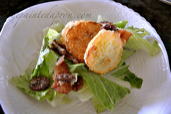salad with squash croutons