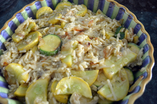 summer squash with rice