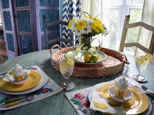 sunny lemon table