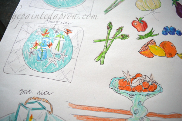 tablescape-sketches