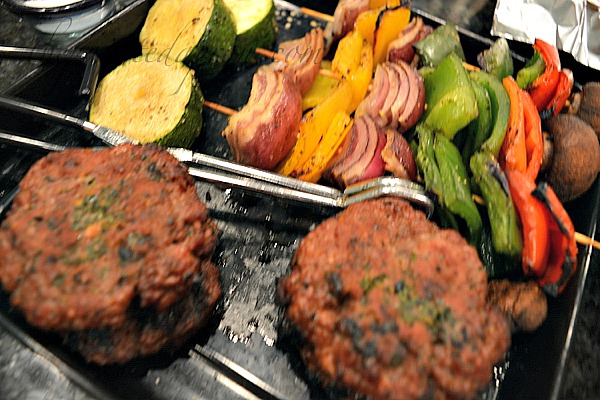 unami burgers with grilled vegetables thepaintedapron.com