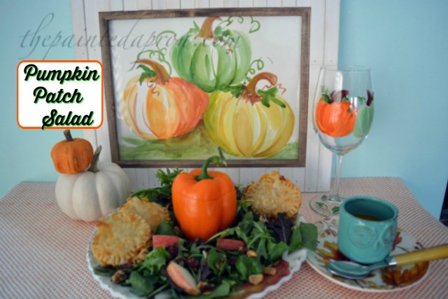 pumpkin-patch-salad-with-pumpkin-dressing-and-pumpkin-croutons