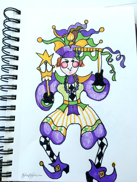 jester-in-colored-pencil-ink-marker