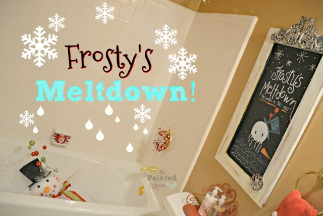 Frosty's Meltdown in the bathtub