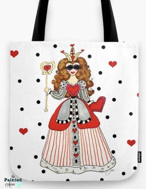 queen of hearts tote