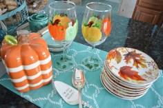 pumpkin-glasses-on-buffet