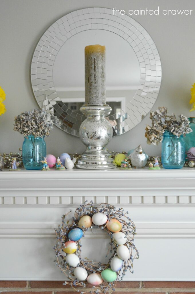 Daffodils And Spring Mantel Decorating Ideas