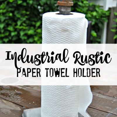 Industrial Rustic Paper Towel Holder