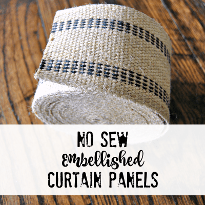How to Make No Sew Embellished Curtain Panels
