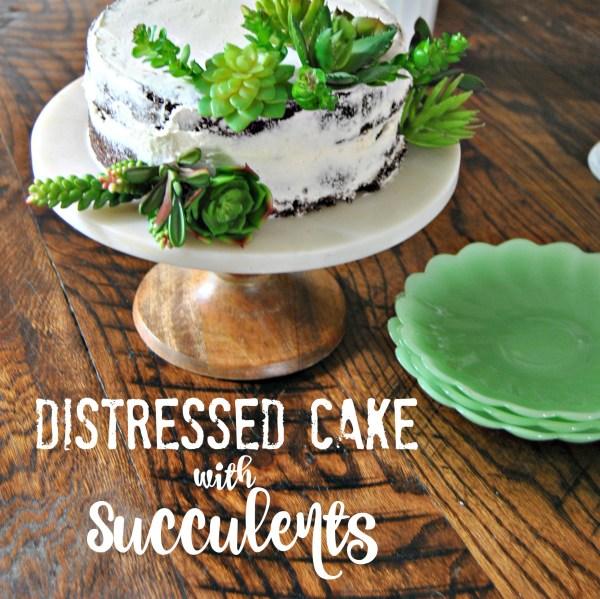 How to Make a Distressed Cake