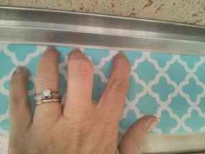 Creasing edges to get a clean cut