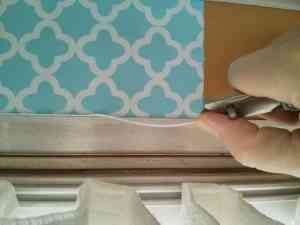 Cut and peel off edge with utility knife