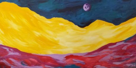 Surprising Sunsets, Acrylic, 14x30