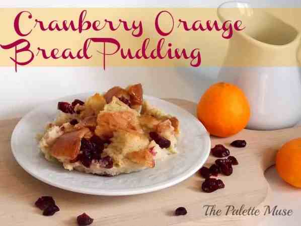 Cranberry Orange Bread Pudding from thepalettemuse.com