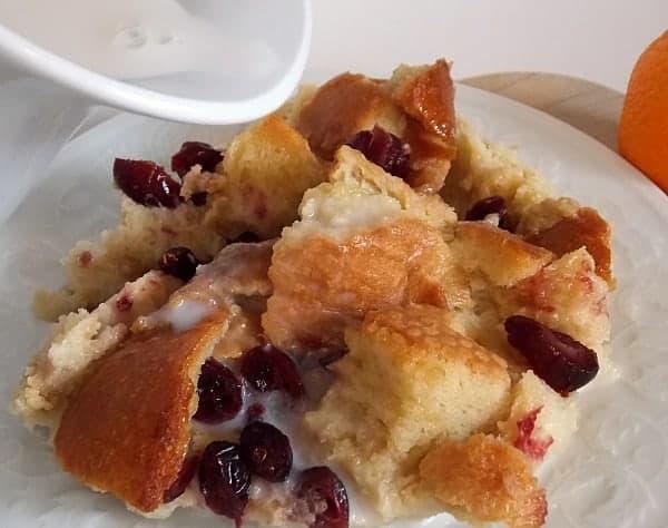 Bread Pudding with Cream