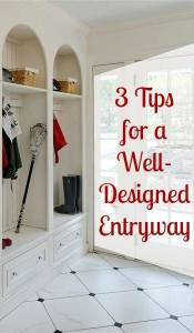 3 Tips for a Well Designed Entryway