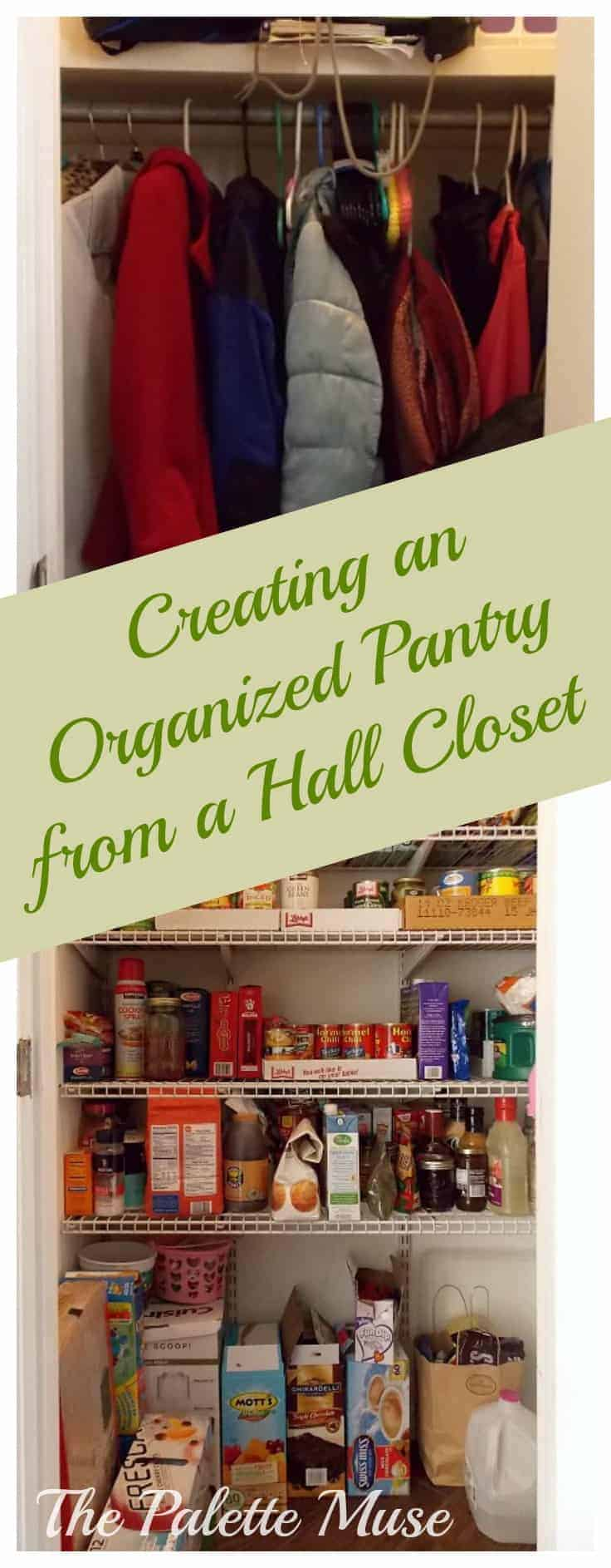 Creating An Organized Pantry From A Hall Closet The