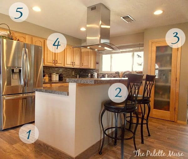 How to achieve this kitchen makeover's look.